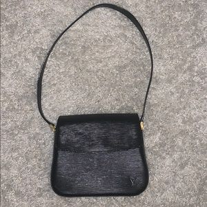 Louis Vuitton Buci Black Epi Leather Shoulder Bag
